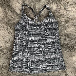 Roots   Women's Tankini Top   Black and White